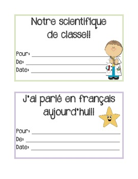 French certificates - Les certificats