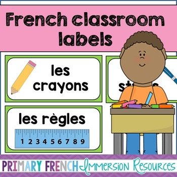 French classroom labels
