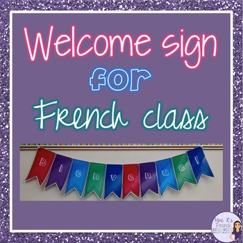 French classroom welcome banner - Bienvenue