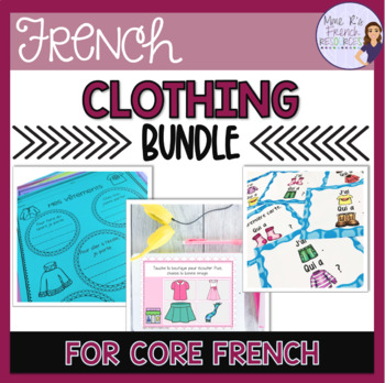 French clothing vocabulary speaking and writing activities