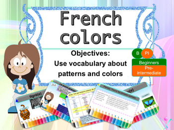 French colors, les couleurs for beginners