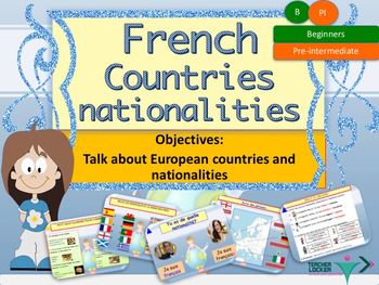 French countries and nationalities, les pays et nationalit