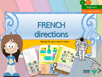 French directions in town, les directions for beginners bundle