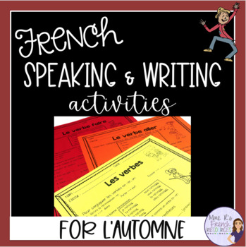 French fall puzzles & writing prompts/puzzles et écritures