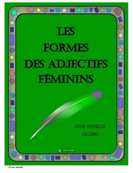 French Feminine Adjectives - Formation Rules, Examples, Ex