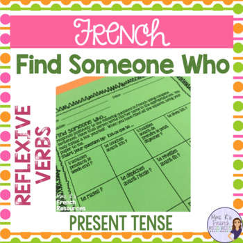French reflexive verbs speaking activity