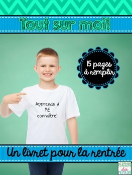 French /francais All about me booklet -  Cahier Tout sur moi