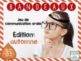 Bandeaux Oral communication game - Jeu de communication or