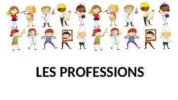 French francais presentation & Activities metiers jobs pro