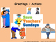 French greetings Lesson plan, PowerPoint (with audio) and