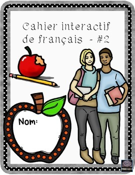 French interactive notebook #2 - cahier interactif