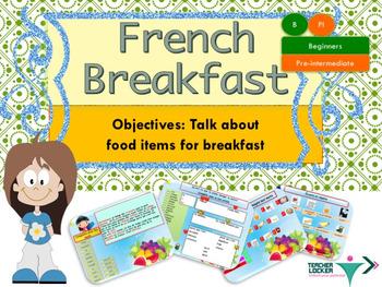 French le petit déjeuner, breakfast for beginners powerpoi