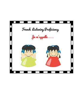 French listening activity - Je m'appelle (worksheet and vi