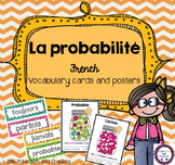 French Probability Vocabulary Cards and Posters (la probabilité)