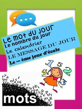 """French: """"nombre et mot du jour"""", Math & Language, Immersion"""