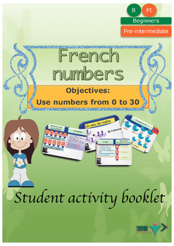 French numbers (1-30) for beginners booklet