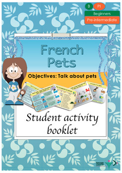 French pets, les animaux domestiques booklet for beginners