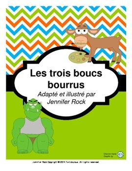 """French play """"Les trois boucs bourrus"""" with activities"""