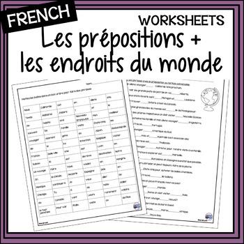 French prepositions + places/les prépositions + les endroits