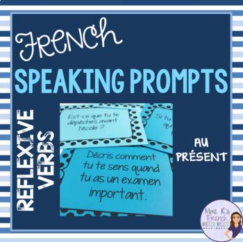 French speaking activity - present tense reflexive verbs s