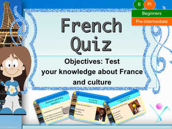 French quiz back to school for beginners