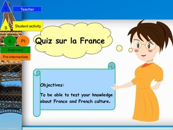 French quiz end of year booklet for beginners