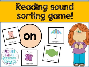 French reading sound sorting game