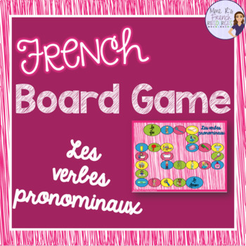 French reflexive verbs passé composé board game
