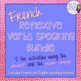 French reflexive verbs speaking activities bundled