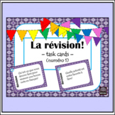 French - review task cards - oral or written