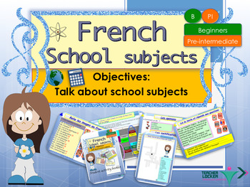 French school subjects, matières full lesson for beginners