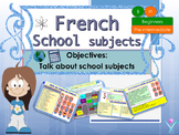French school subjects, les matières scolaires for beginners