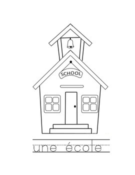 French school words pack of 40 colouring sheets great for