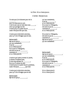 French song Activity- Sherfya Luna