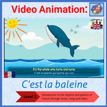 French song in video animation - C'est la baleine