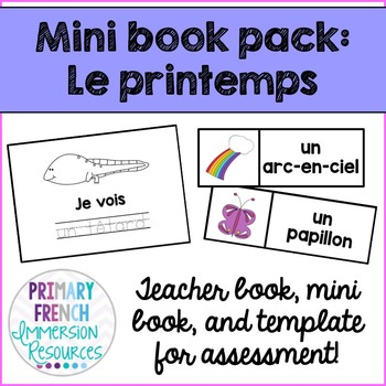 French spring mini book pack - Le printemps!