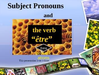 French subject pronouns and être