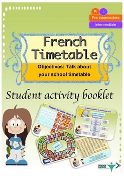 French timetable booklet for pre-intermediate/intermediate