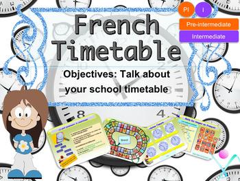 French timetable PPT for pre-intermediate/intermediate