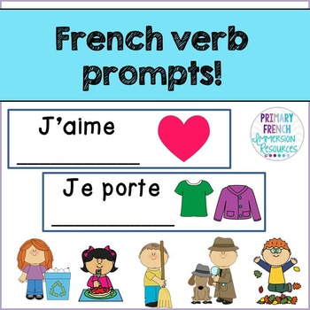 French verb prompts - Les verbes