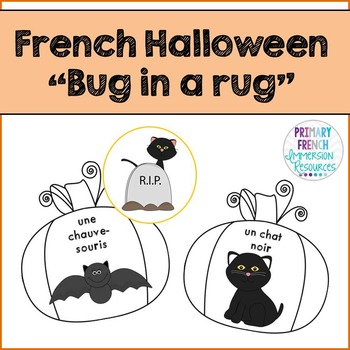 French vocabulary game - Bug in a rug - Halloween - Jeu de