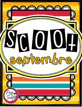 French Vocabulary Game - SCOOT septembre