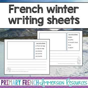 French winter writing - feuilles d'écriture d'hiver