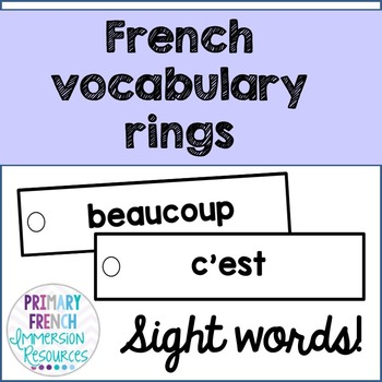 French word wall strips - Sight words