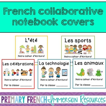 French writing centre notebook covers - class journals
