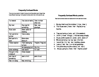 Frequently Confused Words