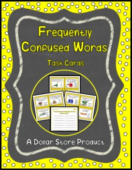 Frequently Confused Words Task Cards (Grades 3-5)