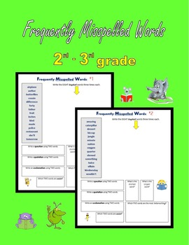 Frequently Misspelled Words (2nd grade – 3rd grade)