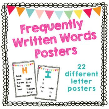 Frequently Written Words Posters – Great for Self Advocacy