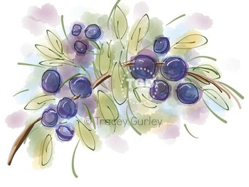 Fresh Berries, berry clip art, berry Printable Tracey Gurl